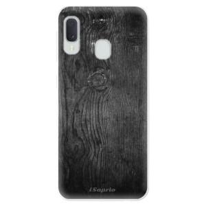 Odolné silikonové pouzdro iSaprio - Black Wood 13 na mobil Samsung Galaxy A20e