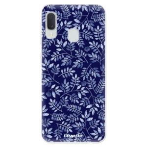 Odolné silikonové pouzdro iSaprio - Blue Leaves 05 na mobil Samsung Galaxy A20e