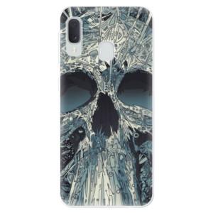Odolné silikonové pouzdro iSaprio - Abstract Skull na mobil Samsung Galaxy A20e
