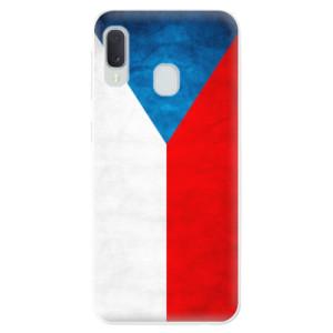 Odolné silikonové pouzdro iSaprio - Czech Flag na mobil Samsung Galaxy A20e