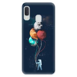 Odolné silikonové pouzdro iSaprio - Balloons 02 na mobil Samsung Galaxy A20e