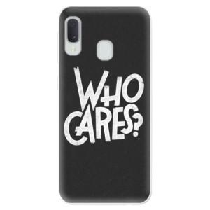 Odolné silikonové pouzdro iSaprio - Who Cares na mobil Samsung Galaxy A20e