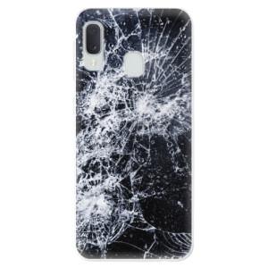 Odolné silikonové pouzdro iSaprio - Cracked na mobil Samsung Galaxy A20e