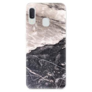 Odolné silikonové pouzdro iSaprio - BW Marble na mobil Samsung Galaxy A20e