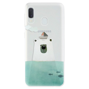 Odolné silikonové pouzdro iSaprio - Bear With Boat na mobil Samsung Galaxy A20e