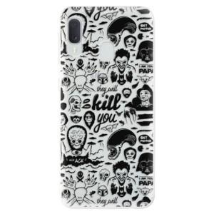 Odolné silikonové pouzdro iSaprio - Comics 01 - black na mobil Samsung Galaxy A20e