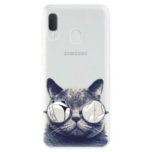 Odolné silikonové pouzdro iSaprio - Crazy Cat 01 na mobil Samsung Galaxy A20e