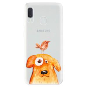 Odolné silikonové pouzdro iSaprio - Dog And Bird na mobil Samsung Galaxy A20e