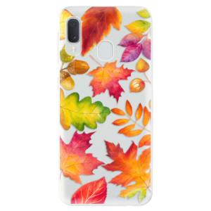 Odolné silikonové pouzdro iSaprio - Autumn Leaves 01 na mobil Samsung Galaxy A20e