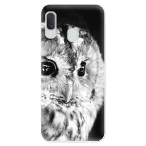 Odolné silikonové pouzdro iSaprio - BW Owl na mobil Samsung Galaxy A20e