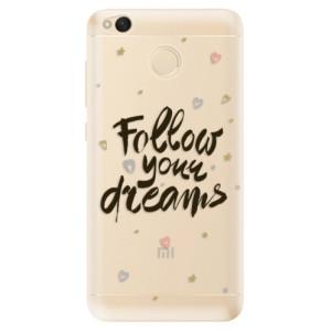 Odolné silikonové pouzdro iSaprio - Follow Your Dreams - black na mobil Xiaomi Redmi 4X