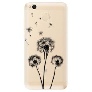 Odolné silikonové pouzdro iSaprio - Three Dandelions - black na mobil Xiaomi Redmi 4X