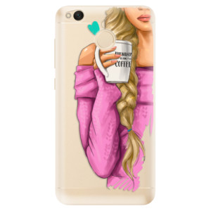 Odolné silikonové pouzdro iSaprio - My Coffe and Blond Girl na mobil Xiaomi Redmi 4X