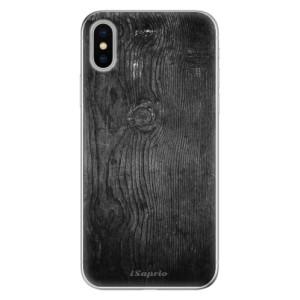 Odolné silikonové pouzdro iSaprio - Black Wood 13 na mobil Apple iPhone X