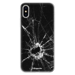 Odolné silikonové pouzdro iSaprio - Broken Glass 10 na mobil Apple iPhone X