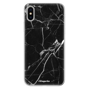 Odolné silikonové pouzdro iSaprio - Black Marble 18 na mobil Apple iPhone X