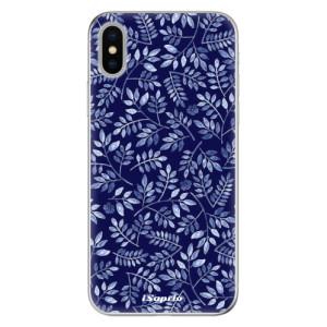 Odolné silikonové pouzdro iSaprio - Blue Leaves 05 na mobil Apple iPhone X