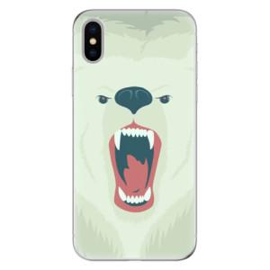 Odolné silikonové pouzdro iSaprio - Angry Bear na mobil Apple iPhone X