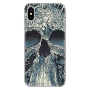 Odolné silikonové pouzdro iSaprio - Abstract Skull na mobil Apple iPhone X