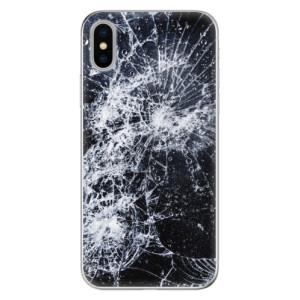 Odolné silikonové pouzdro iSaprio - Cracked na mobil Apple iPhone X