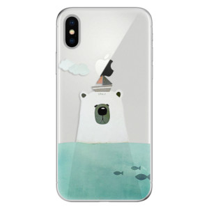 Odolné silikonové pouzdro iSaprio - Bear With Boat na mobil Apple iPhone X