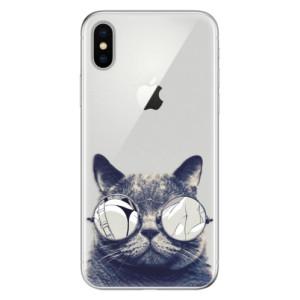Odolné silikonové pouzdro iSaprio - Crazy Cat 01 na mobil Apple iPhone X