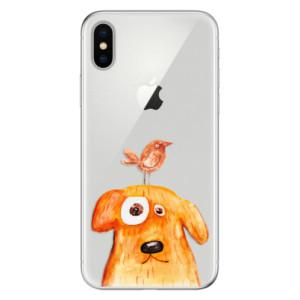 Odolné silikonové pouzdro iSaprio - Dog And Bird na mobil Apple iPhone X