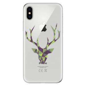 Odolné silikonové pouzdro iSaprio - Deer Green na mobil Apple iPhone X