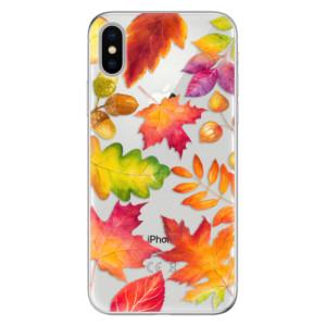 Odolné silikonové pouzdro iSaprio - Autumn Leaves 01 na mobil Apple iPhone X