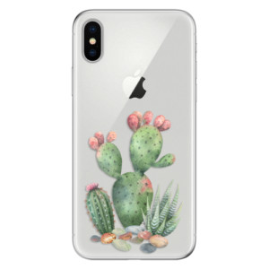 Odolné silikonové pouzdro iSaprio - Cacti 01 na mobil Apple iPhone X