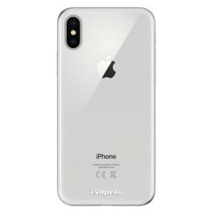 Odolné silikonové pouzdro iSaprio - 4Pure - čiré bez potisku na mobil Apple iPhone X