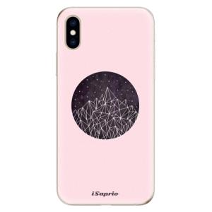 Odolné silikonové pouzdro iSaprio - Digital Mountains 10 na mobil Apple iPhone XS