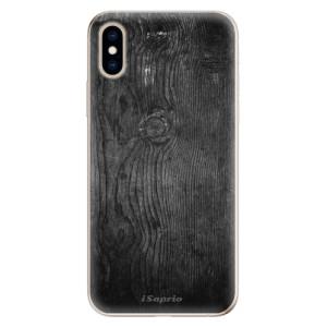 Odolné silikonové pouzdro iSaprio - Black Wood 13 na mobil Apple iPhone XS
