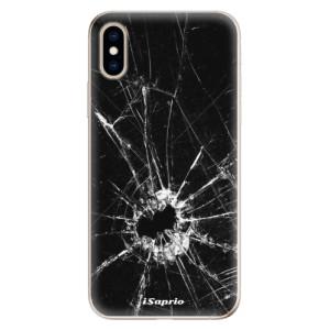 Odolné silikonové pouzdro iSaprio - Broken Glass 10 na mobil Apple iPhone XS