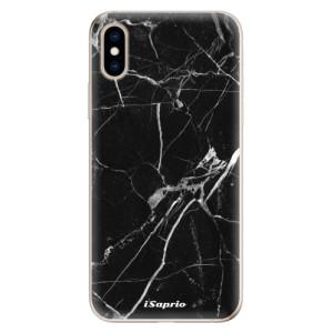 Odolné silikonové pouzdro iSaprio - Black Marble 18 na mobil Apple iPhone XS
