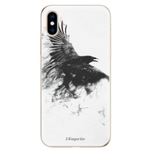 Odolné silikonové pouzdro iSaprio - Dark Bird 01 na mobil Apple iPhone XS