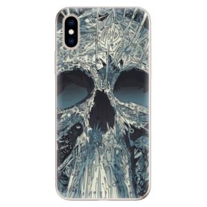 Odolné silikonové pouzdro iSaprio - Abstract Skull na mobil Apple iPhone XS