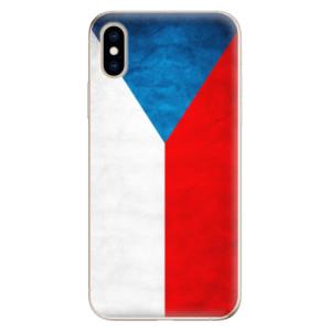 Odolné silikonové pouzdro iSaprio - Czech Flag na mobil Apple iPhone XS