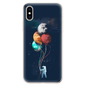 Odolné silikonové pouzdro iSaprio - Balloons 02 na mobil Apple iPhone XS