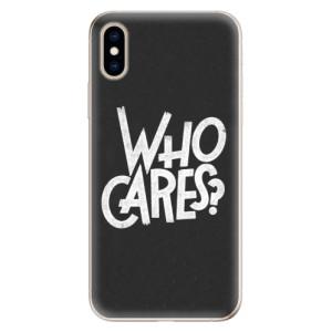 Odolné silikonové pouzdro iSaprio - Who Cares na mobil Apple iPhone XS