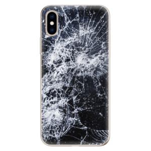 Odolné silikonové pouzdro iSaprio - Cracked na mobil Apple iPhone XS
