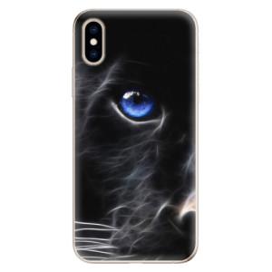 Odolné silikonové pouzdro iSaprio - Black Puma na mobil Apple iPhone XS
