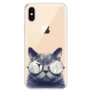 Odolné silikonové pouzdro iSaprio - Crazy Cat 01 na mobil Apple iPhone XS