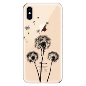 Odolné silikonové pouzdro iSaprio - Three Dandelions - black na mobil Apple iPhone XS