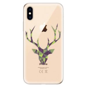 Odolné silikonové pouzdro iSaprio - Deer Green na mobil Apple iPhone XS