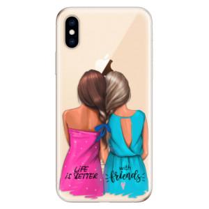 Odolné silikonové pouzdro iSaprio - Best Friends na mobil Apple iPhone XS
