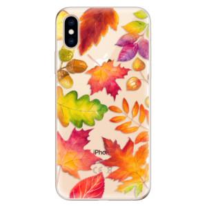 Odolné silikonové pouzdro iSaprio - Autumn Leaves 01 na mobil Apple iPhone XS