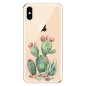 Odolné silikonové pouzdro iSaprio - Cacti 01 na mobil Apple iPhone XS