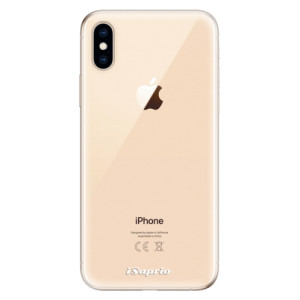 Odolné silikonové pouzdro iSaprio - 4Pure - čiré bez potisku na mobil Apple iPhone XS