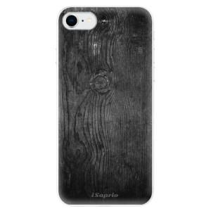 Odolné silikonové pouzdro iSaprio - Black Wood 13 na mobil Apple iPhone SE 2020